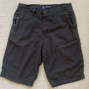 American Eagle Black Longer Length Khaki Shorts